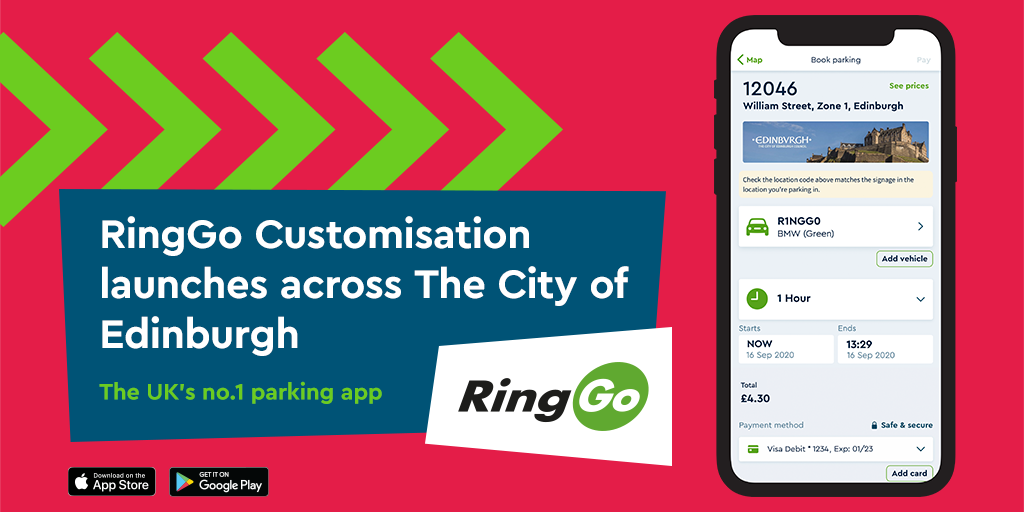 Edinburgh extends agreement with RingGo to 2024