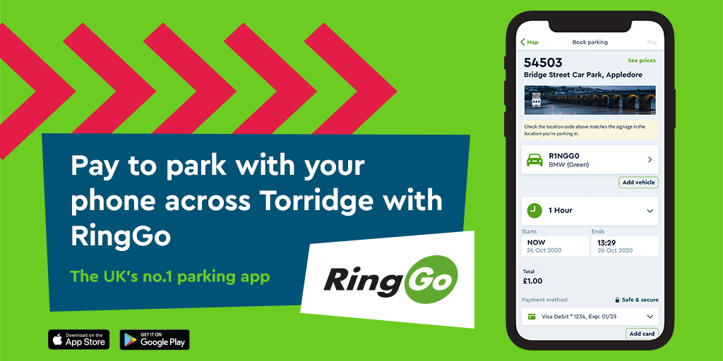 Pay for parking in Torridge with RingGo