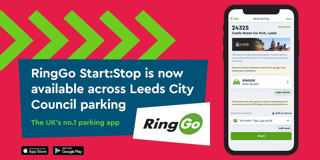 RingGo Start:Stop launches in Leeds