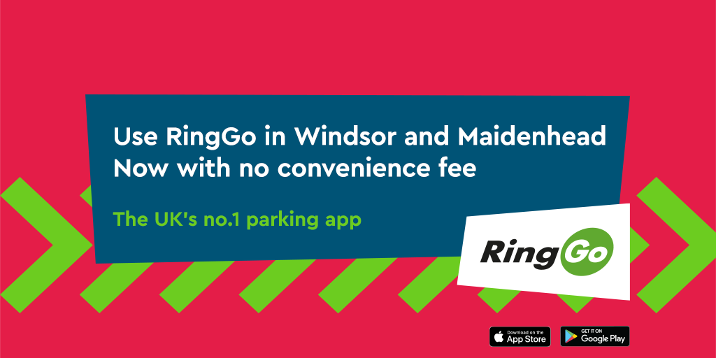 Windsor and Maidenhead Council remove the convenience fee for using RingGo