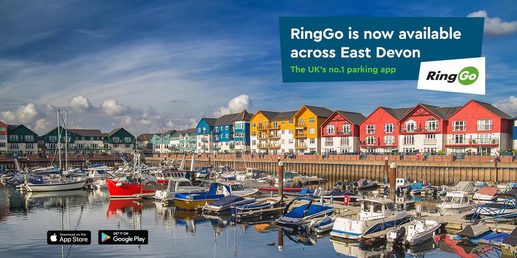 Phone parking in East Devon has transferred to RingGo