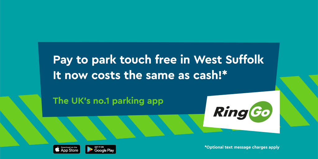 Pay to park in West Suffolk with no convenience fee