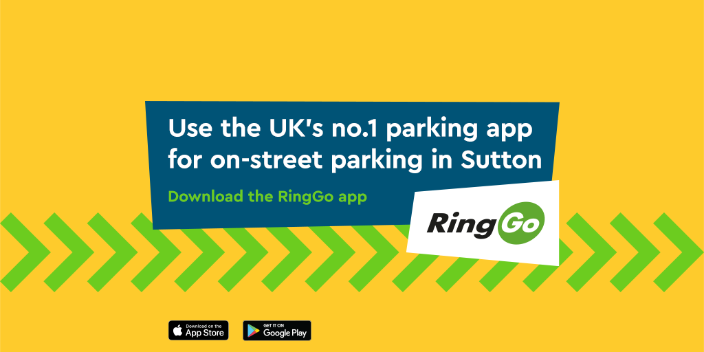 Pay to Park on-street in Sutton with no convenience fee